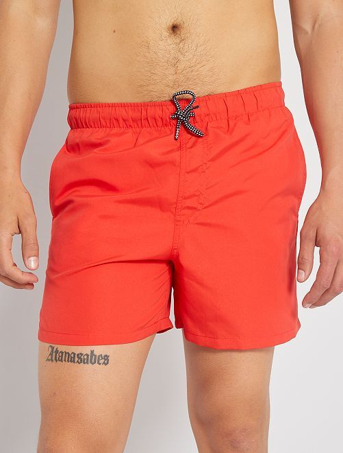 Short de bain uni                                                                                         rouge