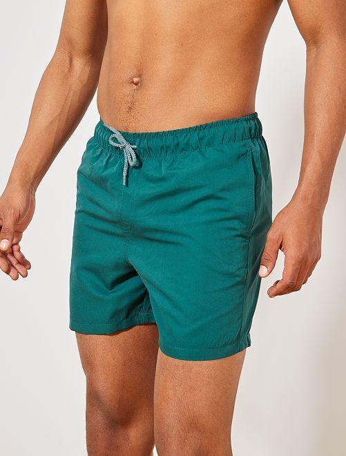 Homme Uni Bain Short Kiabi De Vert 3 60€ Foncé 76Ybfyvg