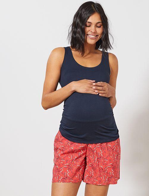 Short de maternité fluide                                 rouge Vêtement de grossesse