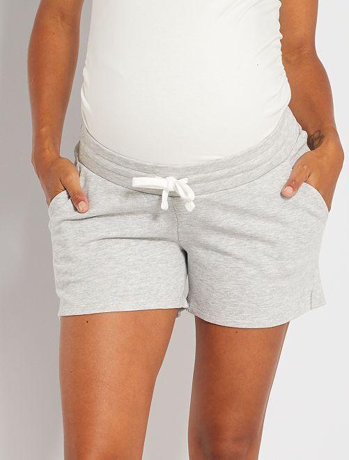 Short de maternité molletonné                                 gris