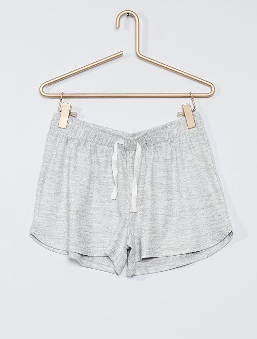 Short de pyjama en jersey                                         gris clair