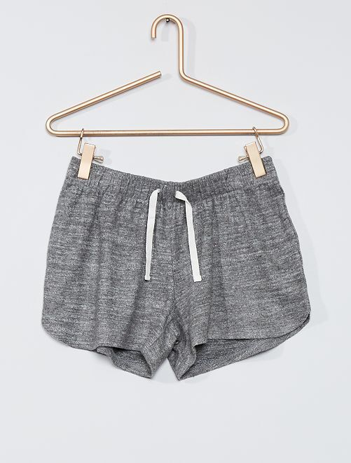 Short de pyjama en jersey                                         gris foncé