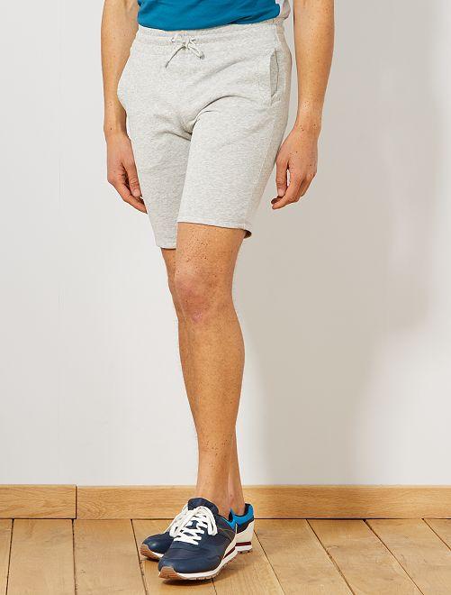 Short de sport en molleton                                                                                                                 gris clair chiné Homme