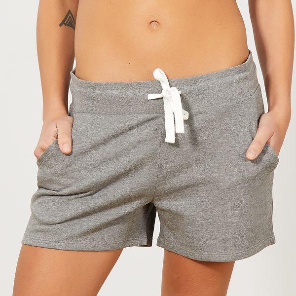 Short de sport en molleton Femme - gris -