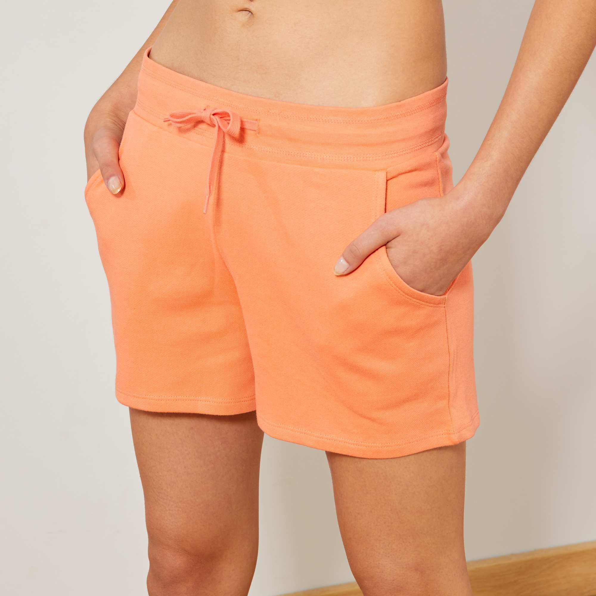 Short de sport en molleton Femme - orange