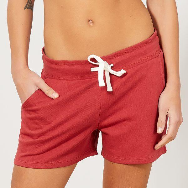 Short de sport en molleton Femme - rouge