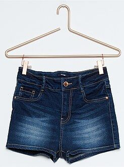 Short denim taille haute 5 poches