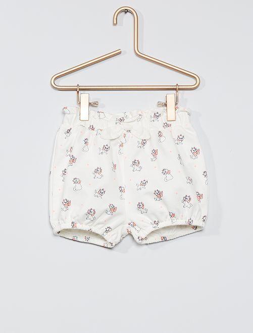 Short 'Disney' en molleton                                         blanc/Marie