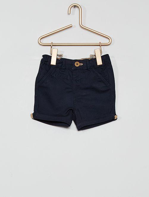 Short éco-conçu                                                                                                                             bleu marine