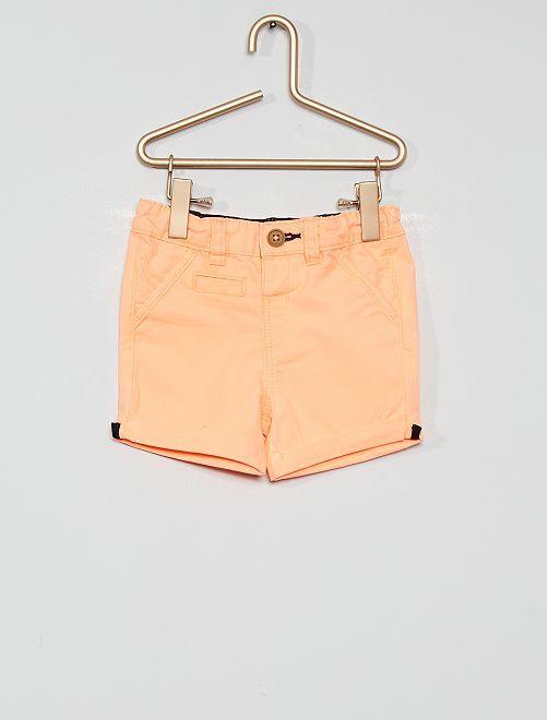 Short éco-conçu                                                                                                                             orange fluo