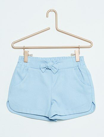Short en coton                                                     bleu Fille