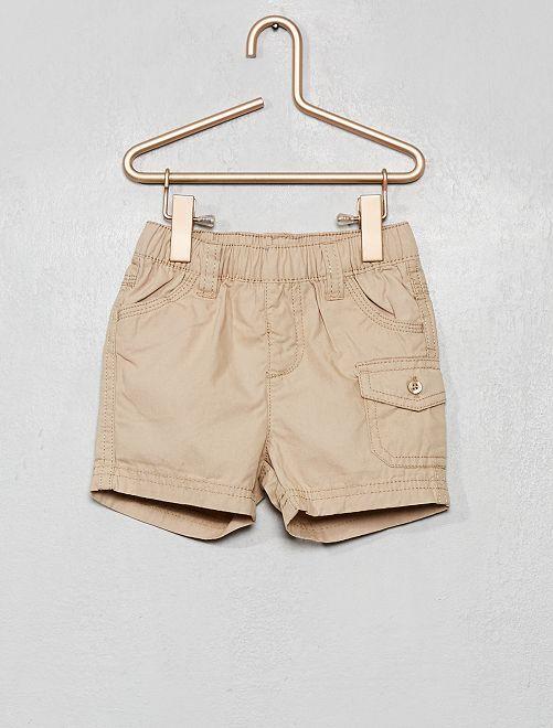 Short en coton                                         écru