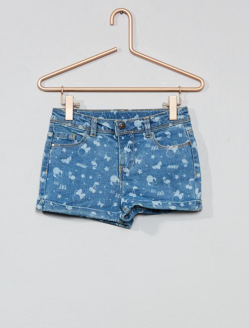 Short en coton stretch 'Minnie Mouse' 'Disney'                             Minnie Fille