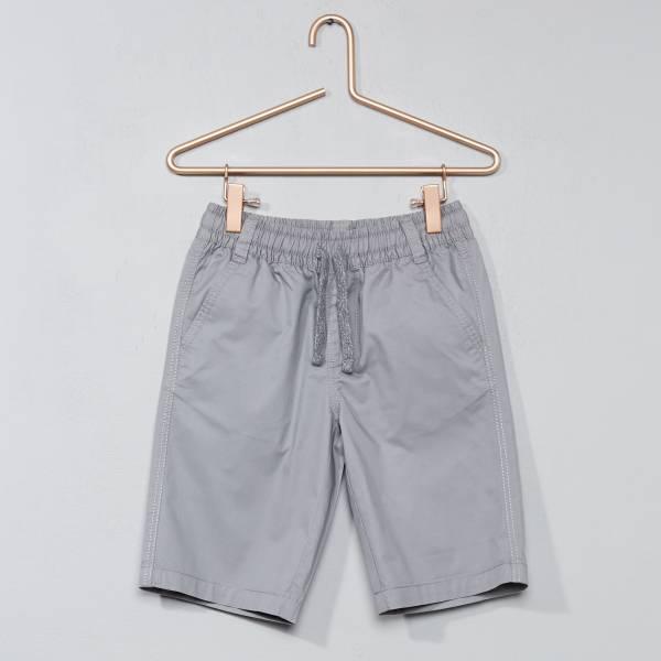 Short en coton twill