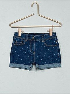 Fille 3-12 ans Short en denim
