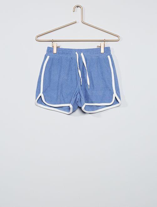 Short en éponge                                                                 bleu
