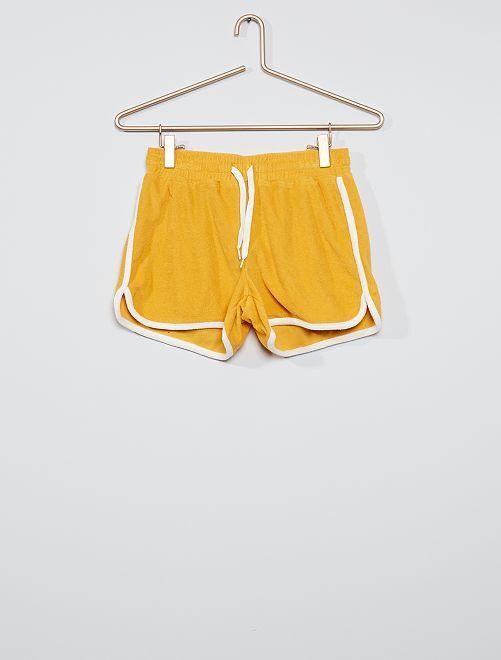 Short en éponge                                                     jaune