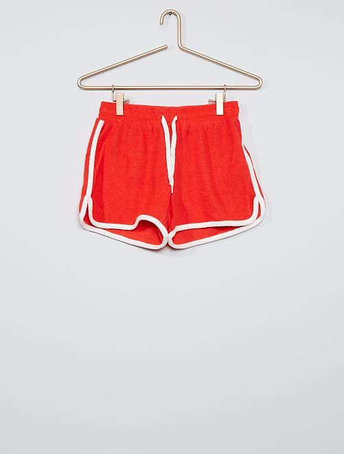 Short en éponge                                                                 rouge