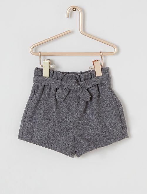Short en flanelle                                         gris