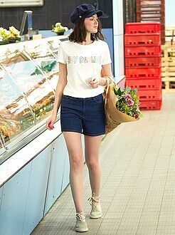 Femme du 34 au 48 - Short en jean - Kiabi