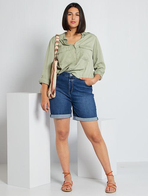 Short en jean                                                                                         bleu stone