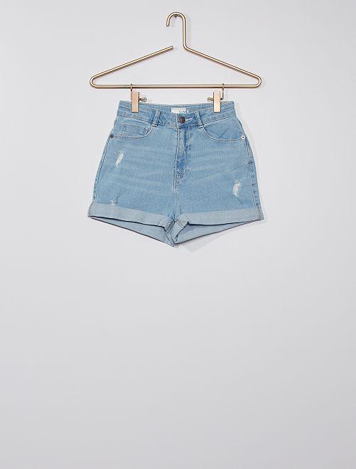 Short en jean éco-conçu                                         bleu clair