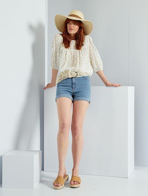Short en jean slim                                                     clair