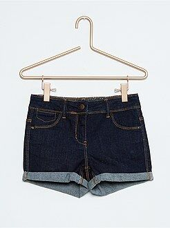 Short, pantacourt - Short en jean stretch