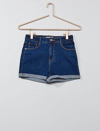 Short en jean stretch