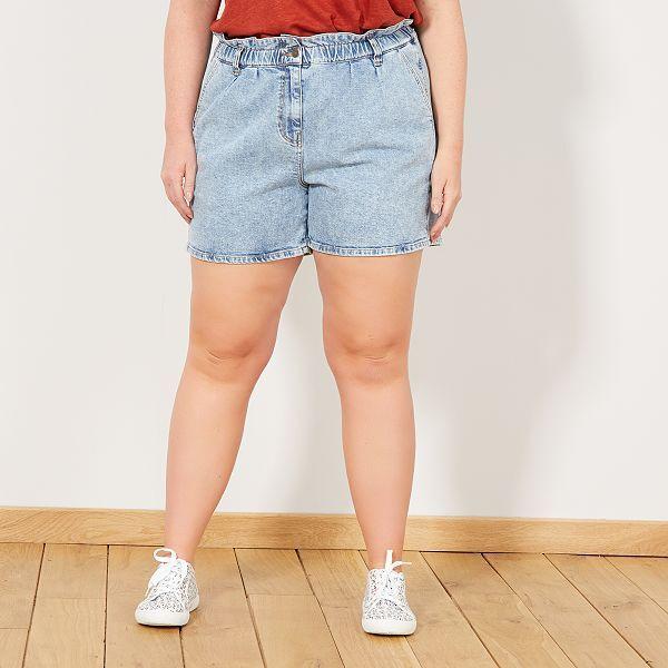 tout neuf d1c2f ef1cf Short en jean taille élastique