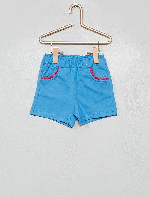 Short en jersey                     bleu/rose