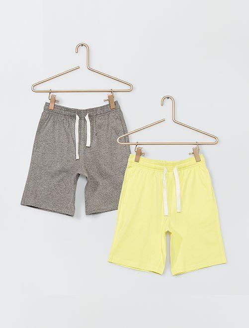 Short en jersey                                                     jaune/gris