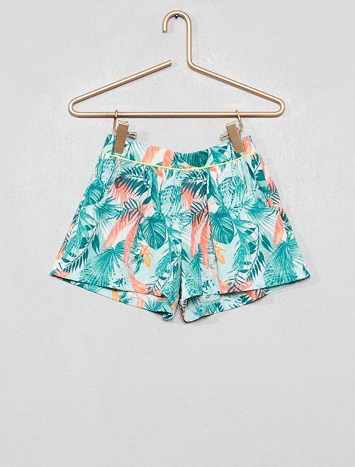 Short en maille gaufrée                                                                 vert palmier