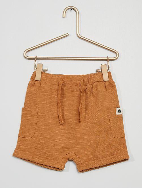 Short en maille jersey imprimé 'montagnes'                                         marron