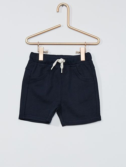 Short en molleton                                         bleu marine