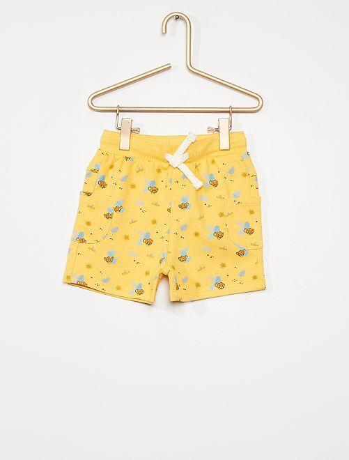 Short en molleton 'Disney'                                                     jaune