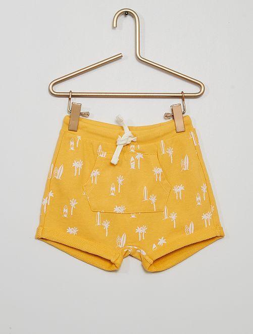 Short en molleton éco-conçu                                                                 jaune