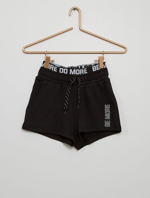 Short en molleton éco-conçu                                                                             noir