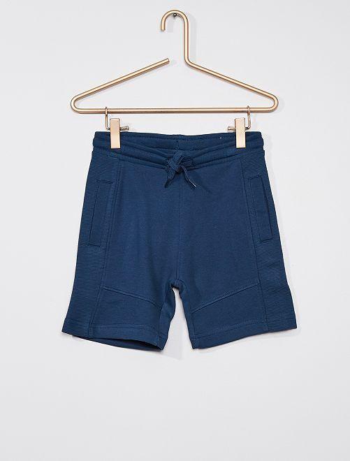 Short en molleton léger éco-conçu                                                                                         bleu