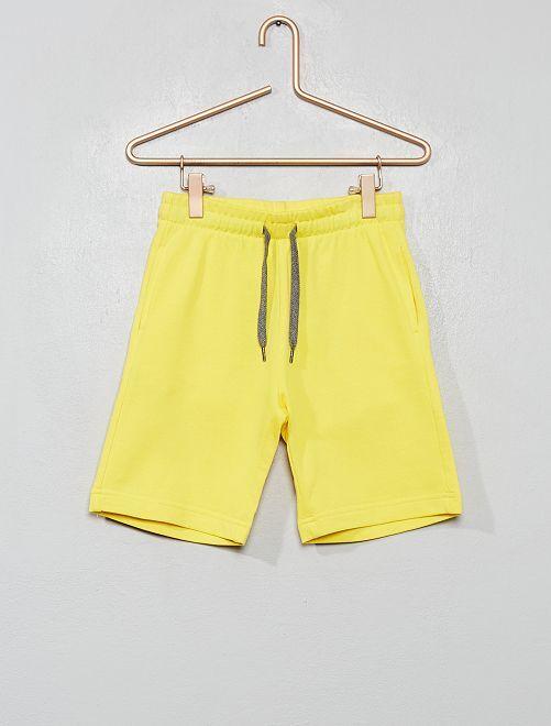 Short en molleton léger éco-conçu                                                                 jaune citron