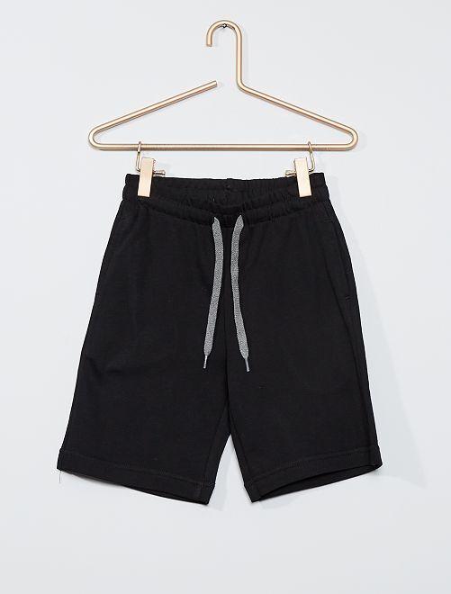 Short en molleton léger éco-conçu                                                                                                     noir