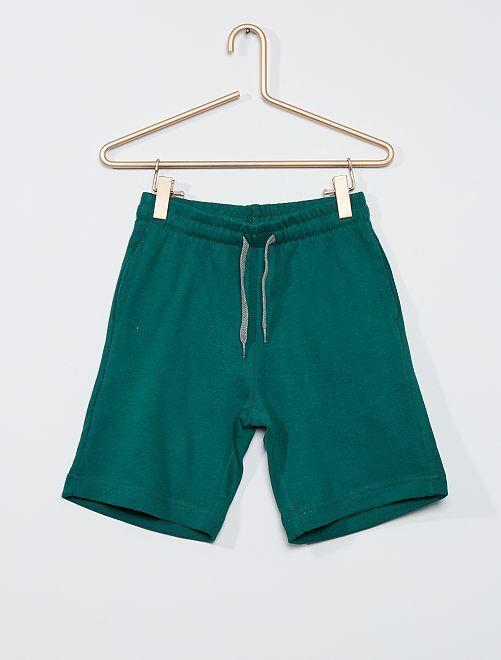 Short en molleton léger éco-conçu                                                                                                     vert