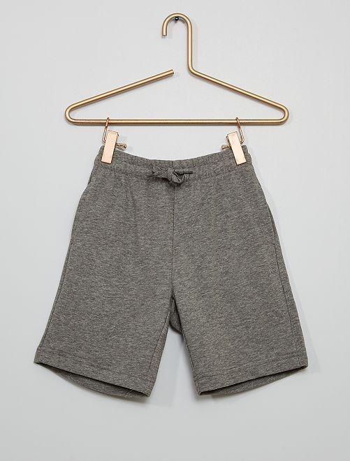 Short en molleton léger                                             gris