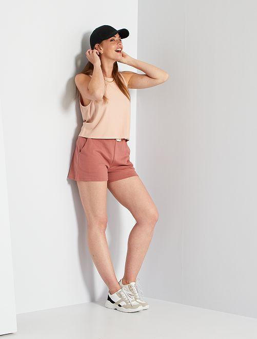 Short en molleton léger                                                                 rose blush