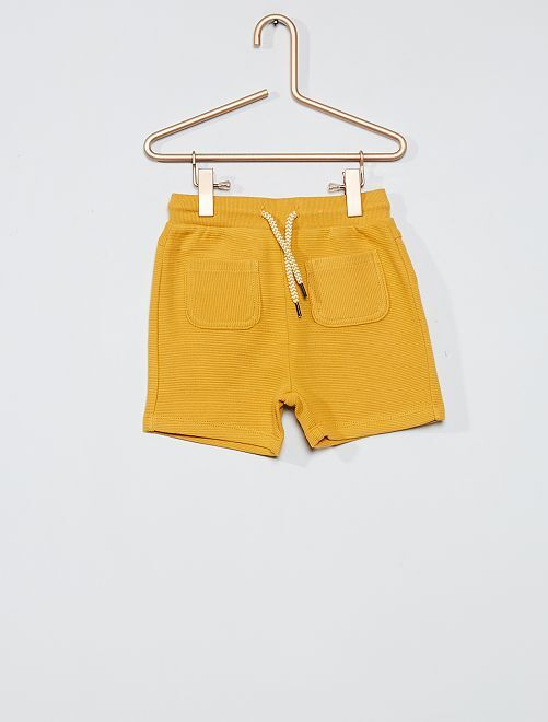 Short en molleton strié                                                     jaune