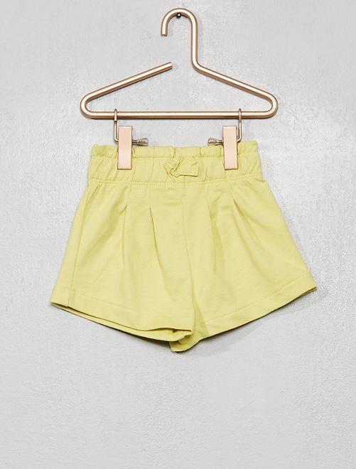 Short en molleton                                                     vert-jaune