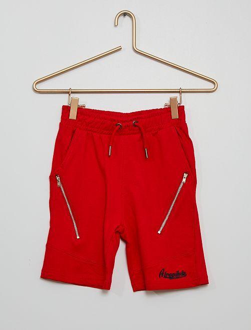 Short en molleton zippé                                                                 rouge