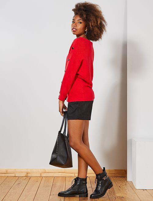 Short en suédine                             noir Femme