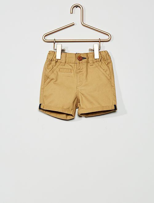 Short en twill                                                                                                                 beige