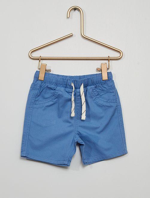 Short en twill                                         bleu